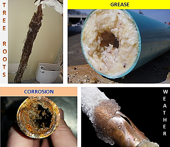 These are real images of real things that happen to pipes.